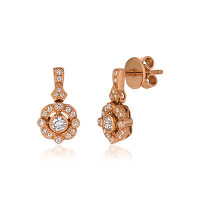 14K Strawberry Gold® Earrings with Vanilla Diamonds® 3/8 cts. | WJCM 5