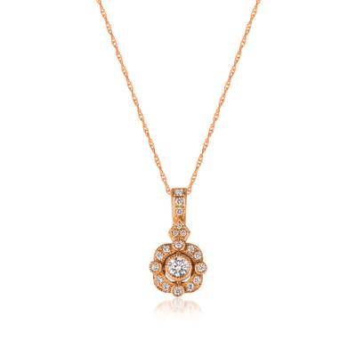 14K Strawberry Gold® Pendant with Vanilla Diamonds® 1/4 cts. | WJCM 6