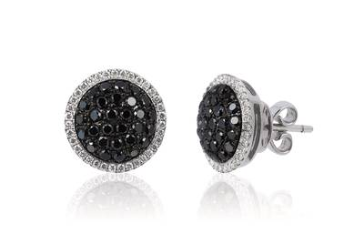 14K Vanilla Gold® Earrings with Blackberry Diamonds® 1 cts., Vanilla Diamonds® 1/4 cts. | WJCT 49
