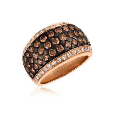 14K Strawberry Gold® Ring with Chocolate Diamonds® 2 cts., Vanilla Diamonds® 1/2 cts. | WJCT 61