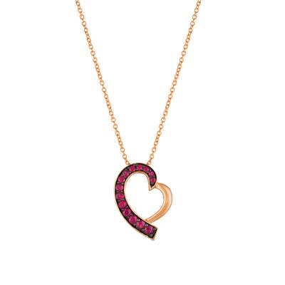 14K Strawberry Gold® Passion Ruby™ 3/8 cts. Pendant | WJEF 19