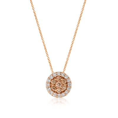 14K Strawberry Gold® Pendant with Nude Diamonds™ 1/3 cts., Vanilla Diamonds® 1/3 cts. | WJFP 27