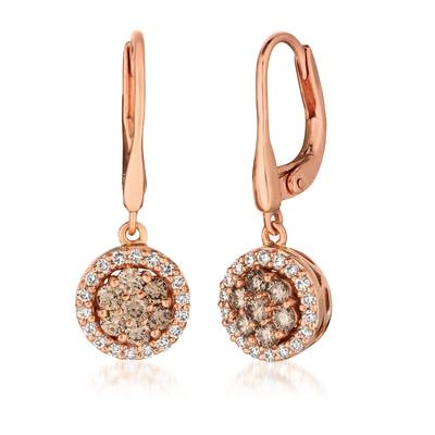 14K Strawberry Gold® Earrings with Nude Diamonds™ 1/2 cts., Vanilla Diamonds® 1/3 cts. | WJFP 28