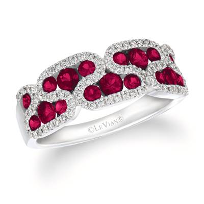 14K Vanilla Gold® Passion Ruby™ 7/8 cts. Ring with Vanilla Diamonds® 1/5 cts. | WJFT 21