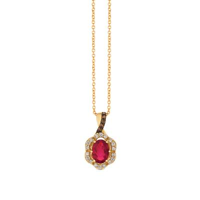 14K Honey Gold™ Passion Ruby™ 3/4 cts. Pendant | WJFT 45
