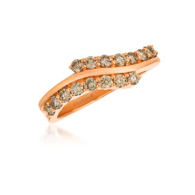 14K Strawberry Gold® Ring with Nude Diamonds 5/8 cts. | WJFT 48