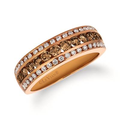 14K Strawberry Gold® Ring with Nude Diamonds 5/8 cts., Vanilla Diamonds® 1/3 cts. | WJFT 49