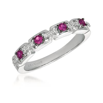 14K Vanilla Gold® Passion Ruby™ 1/5 cts. Ring with Vanilla Diamonds® 1/15 cts. | WJGF 13