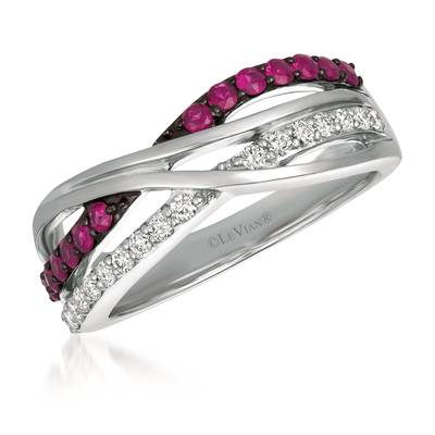14K Vanilla Gold® Passion Ruby™ 1/3 cts. Ring with Vanilla Diamonds® 1/5 cts. | WJGF 16