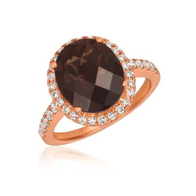 14K Strawberry Gold® Chocolate Quartz® 4  1/4 cts. Ring | WJGF 23