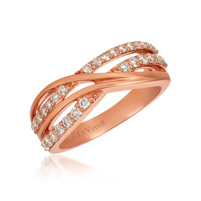 14K Strawberry Gold® Ring with Nude Diamonds™ 1/2 cts. | WJGF 37