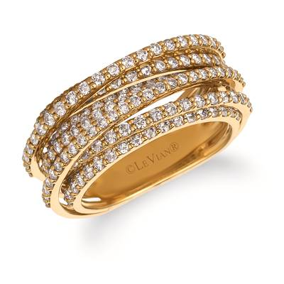 14K Honey Gold™ Ring with Nude Diamonds™ 1  7/8 cts. | WJGK 4