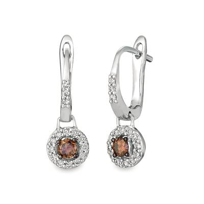 14K Vanilla Gold® Earrings with Chocolate Diamonds® 1/4 cts., Nude Diamonds™ 1/4 cts. | WJGL 37