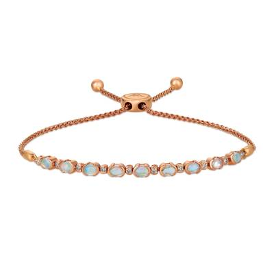 14K Strawberry Gold® Neopolitan Opal™ 1 cts. Bolo Bracelet with Nude Diamonds 1/5 cts. | WJGQ 47