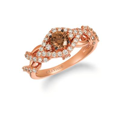 14K Strawberry Gold® Ring with Chocolate Diamonds® 1/2 cts., Nude Diamonds™ 1/2 cts. | WJHB 29-070
