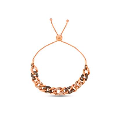 14K Strawberry Gold® Bracelet with Chocolate Diamonds® 1/4 cts., Nude Diamonds™ 1 cts. | WJHN 13