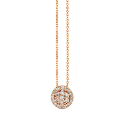 14K Strawberry Gold® Pendant with Nude Diamonds™ 3/4 cts. | WJHN 56