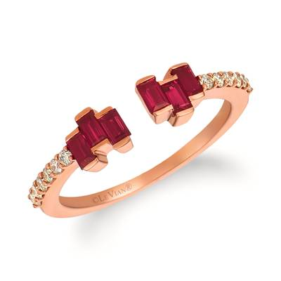 14K Strawberry Gold® Passion Ruby™ 1/3 cts. Ring with Nude Diamonds 1/6 cts. | WJHZ 8