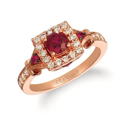 14K Strawberry Gold® Passion Ruby™ 5/8 cts. Ring with Nude Diamonds™ 3/8 cts. | WJIK 9