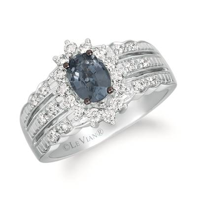 14K Vanilla Gold® Gray Spinel 3/4 cts. Ring with Vanilla Diamonds® 3/8 cts. | WJIP 43-070