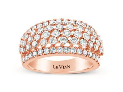 14K Strawberry Gold® Ring with Nude Diamonds™ 1  3/4 cts. | WJIP 44