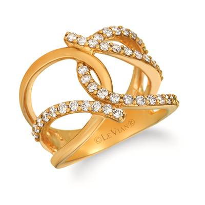 14K Honey Gold™ Ring with Nude Diamonds 7/8 cts. | WJIP 52