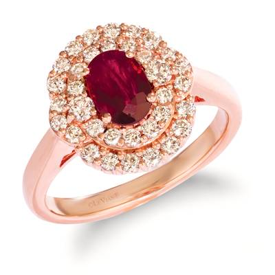 14K Strawberry Gold® Passion Ruby™ 3/4 cts. Ring with Nude Diamonds™ 5/8 cts. | WJIZ 22