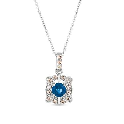 14K Vanilla Gold® Blueberry Sapphire™ 1/2 cts. Pendant with Nude Diamonds™ 1/4 cts. | WJJT 29