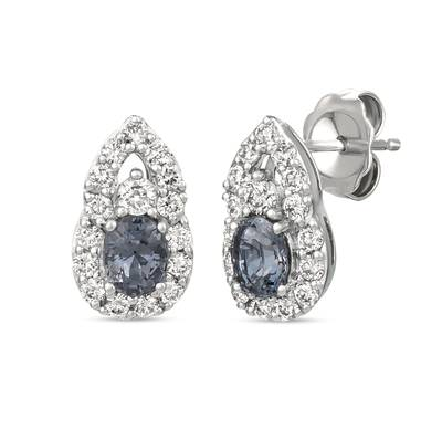 14K Vanilla Gold® Gray Spinel 3/4 cts. Earrings with Nude Diamonds™ 5/8 cts. | WJJT 50