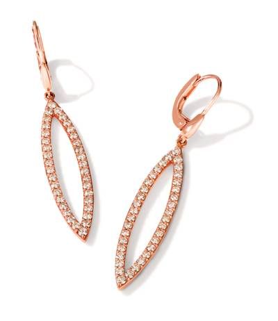 14K Strawberry Gold® Earrings with Nude Diamonds™ 1  3/4 cts. | WJKC 6