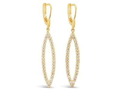 14K Honey Gold™ Earrings with Nude Diamonds™ 1  3/4 cts. | WJKC 7