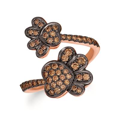 14K Strawberry Gold® Ring with Chocolate Diamonds® 5/8 cts. | WJKI 19