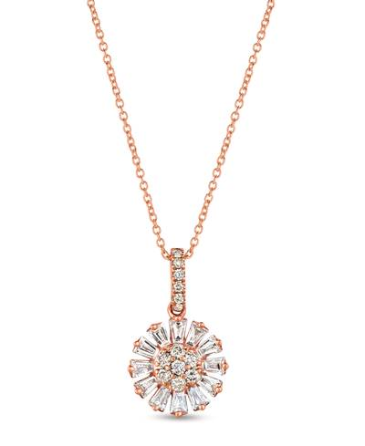 14K Strawberry Gold® Pendant with Vanilla Diamonds® 1/2 cts., Nude Diamonds™ 1/5 cts. | WJKJ 11