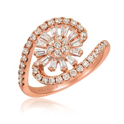 14K Strawberry Gold® Ring with Nude Diamonds™ 5/8 cts., Vanilla Diamonds® 1/4 cts. | WJKJ 14