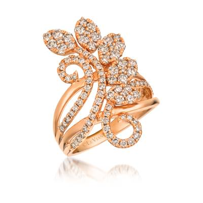 14K Strawberry Gold® Ring with Nude Diamonds™ 1  3/8 cts. | WJKJ 7