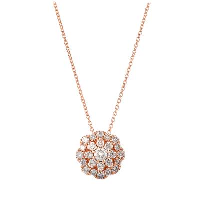 14K Strawberry Gold® Pendant with Nude Diamonds™ 5/8 cts. | WJKL 2