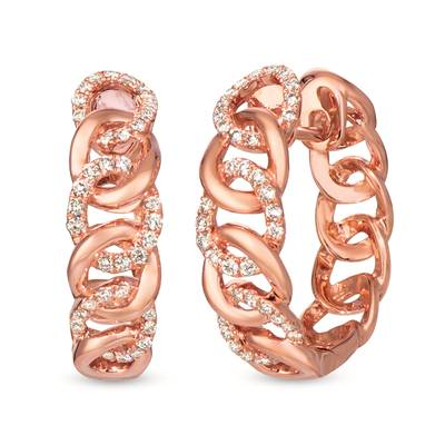 14K Strawberry Gold® Earrings with Nude Diamonds 1/2 cts. | WJKN 2