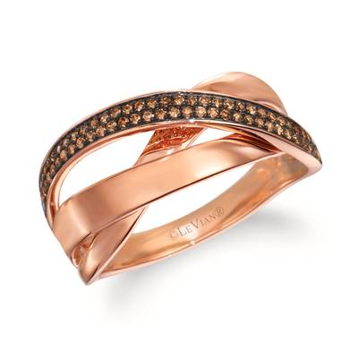 14K Strawberry Gold® Ring with Chocolate Diamonds® 1/3 cts. | WJKN 4