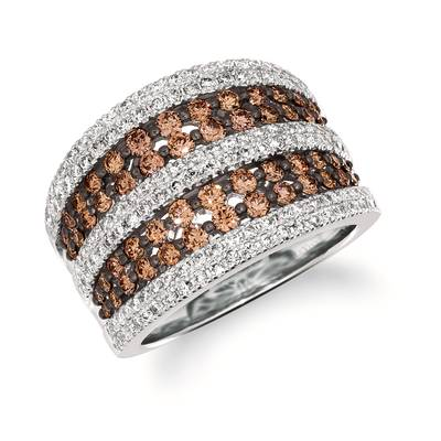 14K Vanilla Gold® Ring with Chocolate Diamonds® 1 cts., Nude Diamonds 3/4 cts. | WJKN 40