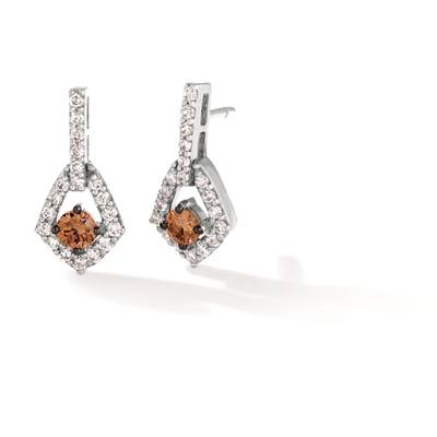 14K Vanilla Gold® Earrings with Chocolate Diamonds® 1/4 cts., Nude Diamonds 1/3 cts. | WJKN 47