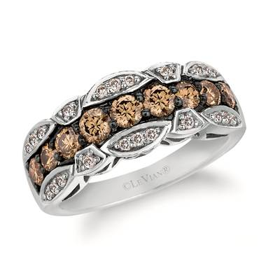 14K Vanilla Gold® Ring with Chocolate Diamonds® 1 cts., Nude Diamonds 1/5 cts. | WJKN 49