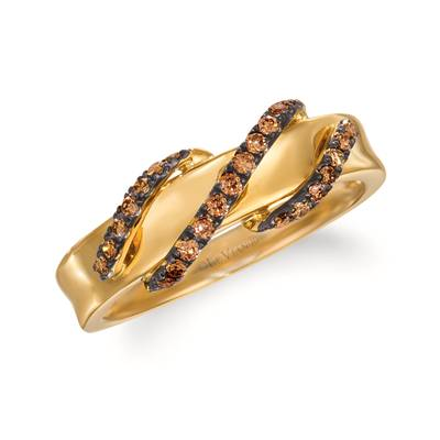 14K Honey Gold™ Ring with Chocolate Diamonds® 1/5 cts. | WJKN 6