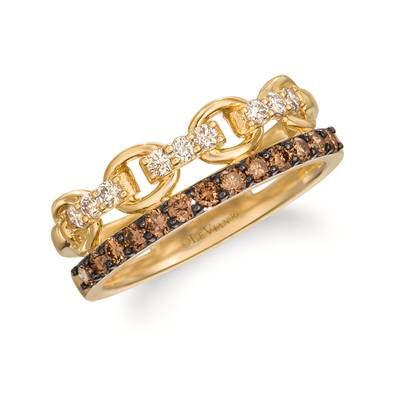 14K Honey Gold™ Ring with Chocolate Diamonds® 1/3 cts., Nude Diamonds™ 1/5 cts. | WJKN 7