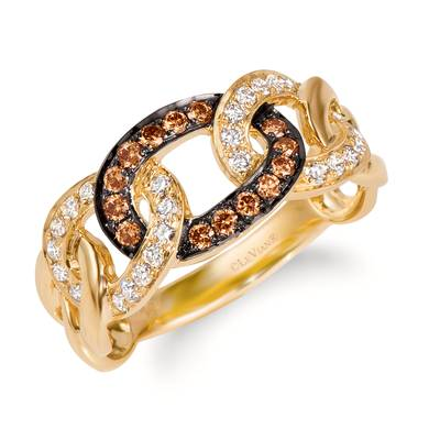 14K Honey Gold™ Ring with Chocolate Diamonds® 1/5 cts., Nude Diamonds™ 1/3 cts. | WJKN 8