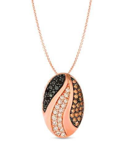 14K Strawberry Gold® Pendant with Nude Diamonds™ 3/8 cts., Blackberry Diamonds® 1/4 cts., Chocolate Diamonds® 3/8 cts. | WJKQ 25