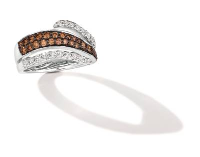 14K Vanilla Gold® Ring with Nude Diamonds™ 5/8 cts., Chocolate Diamonds® 5/8 cts. | WJKQ 50