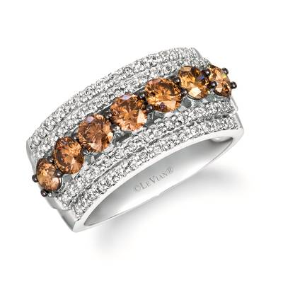 14K Vanilla Gold® Ring with Chocolate Diamonds® 1  1/4 cts., Nude Diamonds 5/8 cts. | WJKQ 51