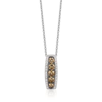 14K Vanilla Gold® Pendant with Chocolate Diamonds® 1/2 cts., Nude Diamonds™ 1/5 cts. | WJKQ 52