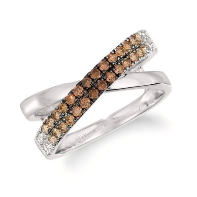 14K Vanilla Gold® Ring with Chocolate Ombré Diamonds® 3/8 cts., Nude Diamonds™ 1/8 cts. | WJKQ 71
