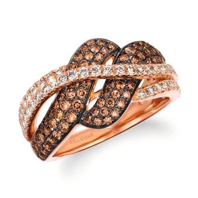 14K Strawberry Gold® Ring with Chocolate Diamonds® 7/8 cts., Nude Diamonds™ 1/2 cts. | WJKQ 74